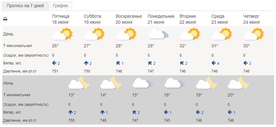 30-градусная жара ждёт калужан на выходных