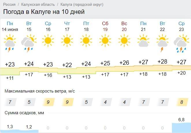 В Калугу наконец-то пришло лето