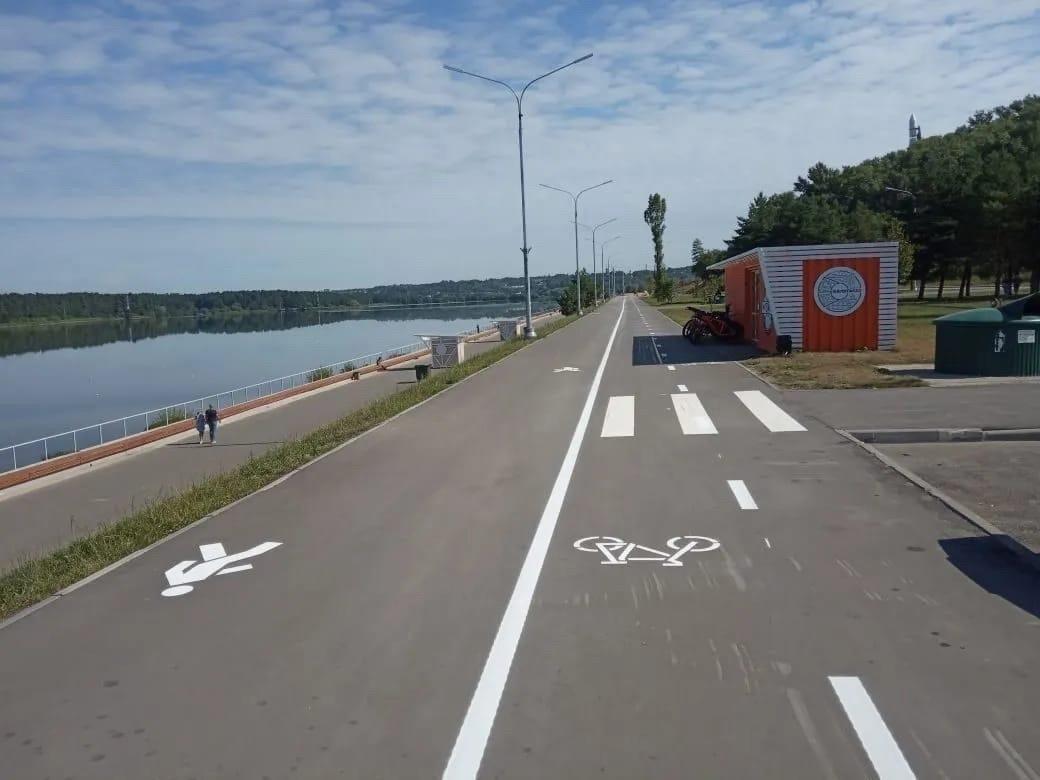 На Набережной появилась велодорожка